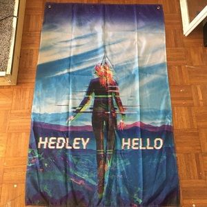 Free with purchase Hedley cloth poster